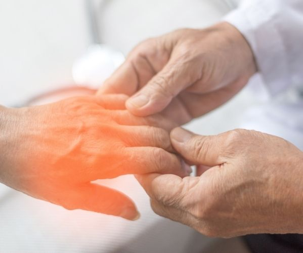 doctor assessing and treating neuropathic pain